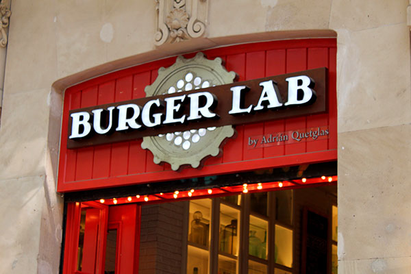 Burger Lab Storefront Dimensional Signs in Toronto, ON