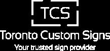 Footer of Toronto Custom Signs, ON